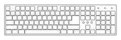 White laptop computer keyboard Stock Illustration