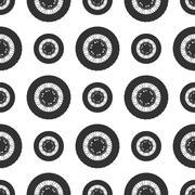 Bicycle wheels background Stock Illustration