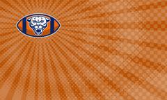 Mountain Lion Football Coaching  Business Card. Stock Illustration