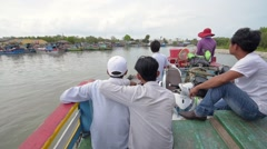 Passengers travel from Vung Tau to Can Gio at  the boat Stock Footage