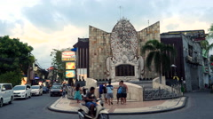 Bali Bombing Memorial aka Ground Zero Monument in Kuta, Bali, Indonesia Stock Footage
