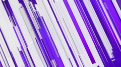 Purple lines and 3D rectangles abstract background Stock Footage