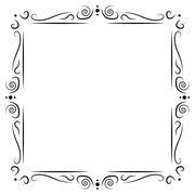 Vintage frame decoration Stock Illustration