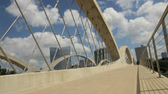 West 7th Street Bridge in Fort Worth Texas Stock Footage