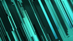 Abstract 3d neon blue rectangles and lines background Stock Footage