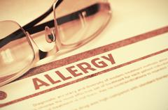Diagnosis - Allergy. Medicine Concept. 3D Illustration Stock Illustration