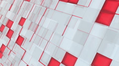 Abstract red and gray squares background Stock Footage