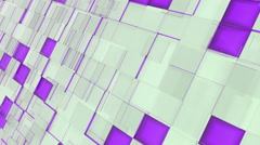 Abstract violet and gray squares background Stock Footage