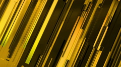 Abstract 3d gold rectangles and lines background Stock Footage