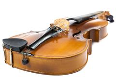 Violin on a white background. Stock Photos