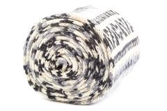 Motley scarf on a white background. Stock Photos