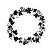 Hop wreath illustration Stock Illustration