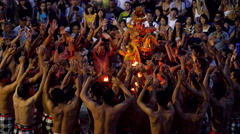 Traditional Balinese Kecak and Fire Dance in Bali, Indonesia Stock Footage