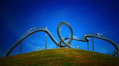 Timelapse 4K Route der Industriekultur Industry Heritage Trail Tiger and Turtle Stock Footage