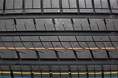 Tread car tires as the background Stock Photos