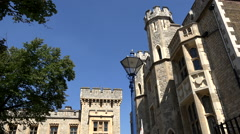 Great Britain England capital city Tower of London historic buildings Stock Footage