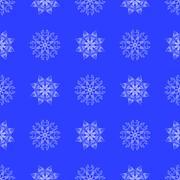 White Snowflake Seamless Pattern Stock Illustration