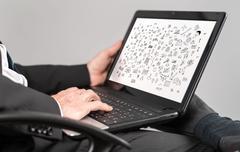 Creativity concept on a laptop Stock Photos