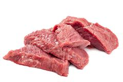 Fresh raw meat on a white background. Stock Photos
