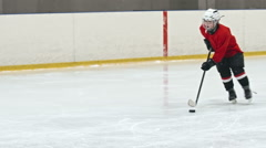 Novice Forward Preventing Goal Stock Footage