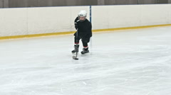 Little Forward Practicing Scoring Goals Stock Footage