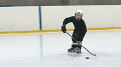 Novice Ice Hockey Players Practicing Stock Footage