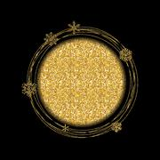 Merry Christmas and New Year Gold Glossy Background. Vector Illu Stock Illustration