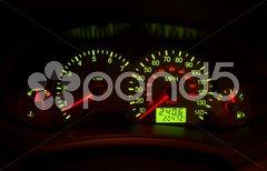 Automobile instrument panel Stock Photos