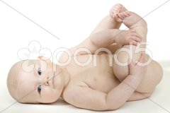Naked baby Stock Photos