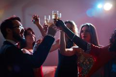 Champagne booze Stock Photos