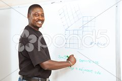 College Student - Advanced Math Stock Photos