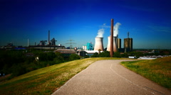 4K Electric Power plant Route der Industriekultur Industry Heritage Trail Tiger Stock Footage