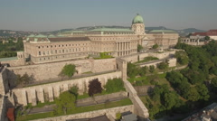 Aerial view of Budapest - Buda castle, Hungary Stock Footage