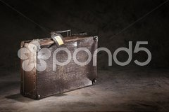 Forgotten suitcase Stock Photos