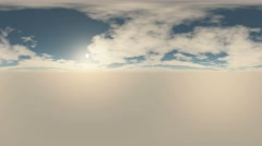 360 degree Panoramic Sky and Clouds at sunset. ready for use in 3D environment Stock Footage