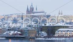 Hradcany in winter, Prague, Czech Republic Stock Photos
