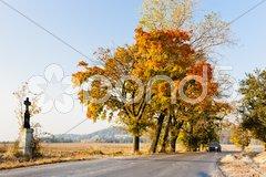 Autumnal countryside, Czech Republic Stock Photos