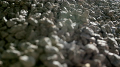 Crushed stone close-up Stock Footage