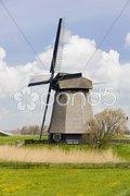 Windmill near Alkmaar, Netherlands Stock Photos