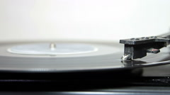 Turntable with stylus running a vinyl record Stock Footage