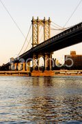 Manhattan Bridge, New York City, USA Stock Photos