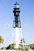 Hillsboro Lighthouse, Pompano Beach, Florida, USA Stock Photos
