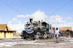 Cumbres and Toltec Narrow Gauge Railroad, Antonito, Colorado, USA Stock Photos