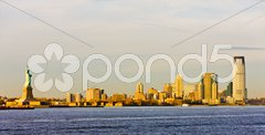 Statue of Liberty and New Jersey, New York, USA Kuvituskuvat