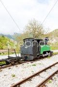 Steam locomotive, Dobrun, Bosnia and Hercegovina Stock Photos