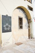 Detail of house at Masaryk Square, Znojmo, Czech Republic Stock Photos