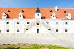 Renaissance water mill, Slup, Czech Republic Stock Photos