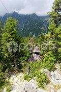 Symbolic cemetery in Vysoke Tatry (High Tatras), Slovakia Stock Photos
