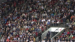 Wild Fans at Sporting Event Stock Footage