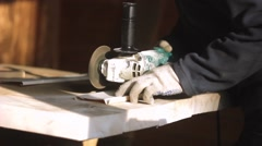 Saws circular saw plastic Stock Footage